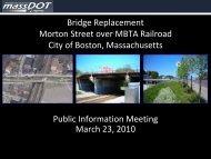Bridge Replacement Morton Street over MBTA ... - Eot State Ma