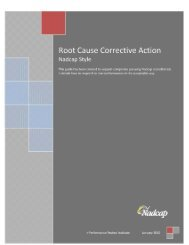 Root Cause Corrective Action - Performance Review Institute