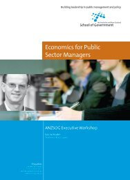 Economics for Public Sector Managers - Australia and New Zealand ...