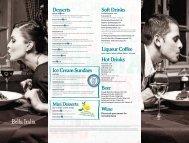 Soft Drinks Liqueur Coffee Hot Drinks Beer Wine ... - Center Parcs