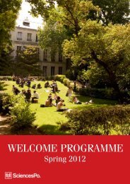 WELCOME PROGRAMME - Sciences-Po International