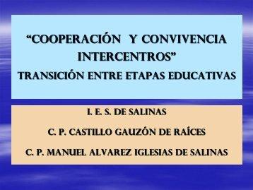 COOPERACIÓN Y CONVIVENCIA INTERCENTROS - educastur ...