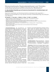 Leitlinie: Rückenmarksnahe Regionalanästhesien/2 ... - DGAI