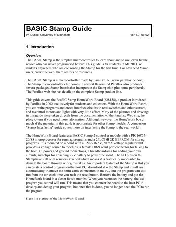 BASIC Stamp Guide - Technology Division
