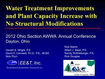 Water Treatment Improvements and Plant Capacity ... - Ohiowater.org