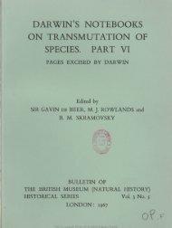 darwin's notebooks on transmutation op species. part vi