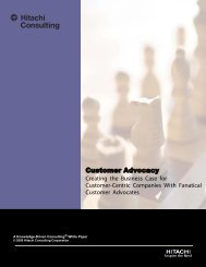 Customer Advocacy - Hitachi Consulting