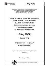 LSN-g 70(50) - Polskie Towarzystwo Przesyłu i Rozdziału Energii ...