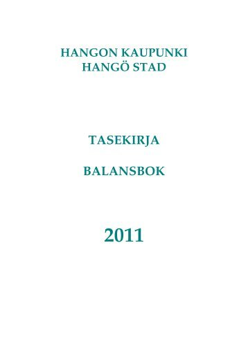 Tasekirja 2011 - Hanko