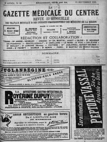 15 septembre 1904 - Université François Rabelais