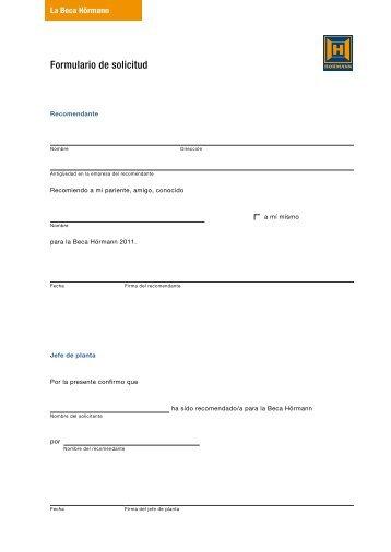 Formulario de solicitud - Hörmann