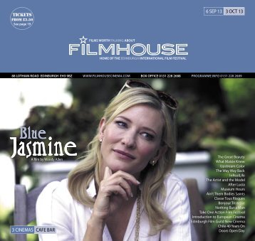 06 Sep - 03 Oct - Filmhouse Cinema Edinburgh