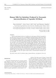 Human Milk Fat Substitute Produced by Enzymatic Interesterification ...