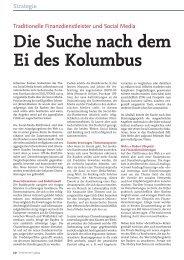 Die Suche nach dem Ei des Kolumbus - solutionproviders