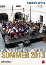 Folder Burggartenkonzerte 2013 (912 KB) - Stadt Wels