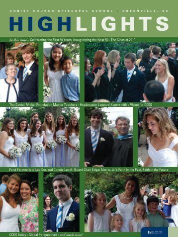 Fall 2010 Highlights - Front Page - Christ Church Episcopal School