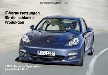 Porsche AG - IT-Voraussetzungen für die schlanke Produktion