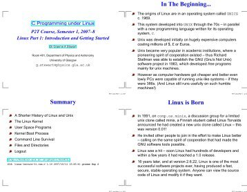 In The Beginning... Linux is Born Summary - Parent Directory ...