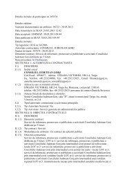 Invitație de participare - Consiliul Judeţean Gorj