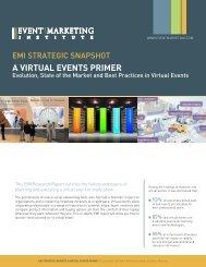 a VIrtUaL EVEntS PrIMEr - Event Hub