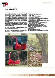 TP 270 PTO - Woodchippers