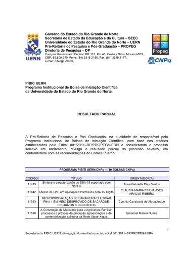 1 Governo do Estado do Rio Grande de Norte Secretaria de ... - UERN