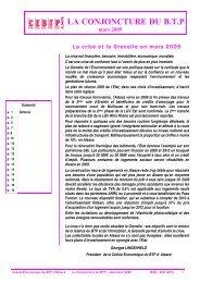 la conjoncture du btp - Cellule Économique du Bâtiment et des ...