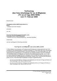 TV ver.di Tage AWO NRW - Arbeitgeberverband AWO Deutschland eV