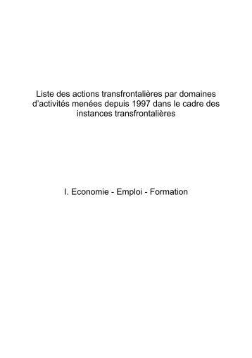 Liste des actions transfrontalières par domaines d'activités ... - CRFG