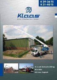 K29-36TS Prospekt - Klaas.com