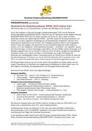Nominierte für Kinderfernsehpreis SPiXEL 2012 ... - Goldener Spatz