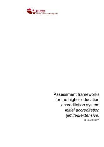 Assessment frameworks for the higher education ... - NVAO