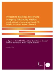 Protecting Patients, Preserving Integrity, Advancing Health ... - AAMC