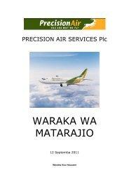 Corporate Finance Services - Precision Air