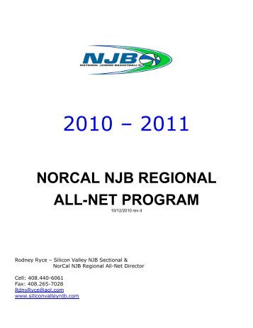 norcal njb regional all-net program - Silicon Valley Section