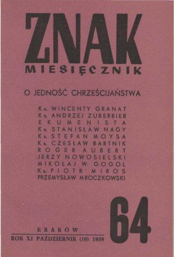 Nr 64, październik 1959 - Znak