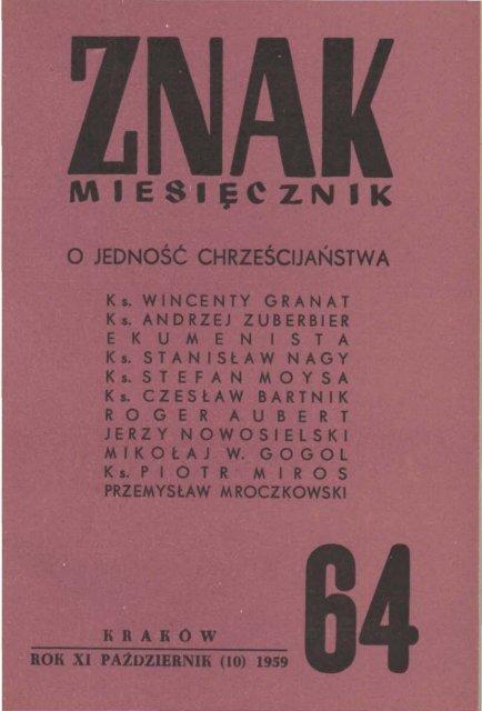Nr 64 Paåºdziernik 1959 Znak