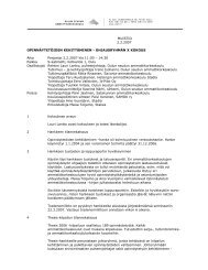 MUISTIO 2.2.2007 OPINNÄYTETÖIDEN KEHITTÄMINEN ... - Oamk