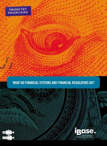 WHAT DO FINANCIAL SYSTEMS AND FINANCIAL ... - Ibase
