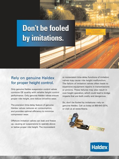 Don't be fooled by imitations  Don't be fooled by imitations  - Haldex