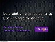 Le projet en train de se faire: Une écologie dynamique - Ekopolis