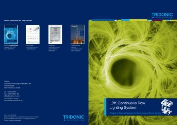 LBK Continuous Row Lighting System - Tridonic connection ...