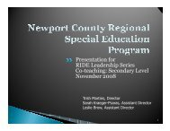 Co-teaching Secondary Level - Middletown School District