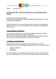 Jahresbericht 2011/12 - Oberstufe Elsau-Schlatt