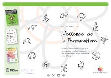 L'essence de la Permaculture - Permaculture Principles