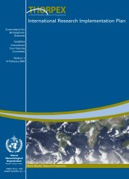 thorpex international research implementation plan - E-Library - WMO