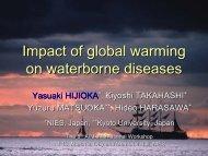 Impact of global warming on waterborne diseases