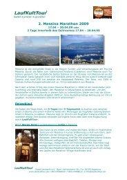 2. Messina Marathon 2009 - Marathon4you.de