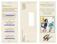 Dual Language Program Brochure - Waukesha School District