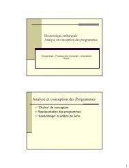 Analyse et conception des Programmes
